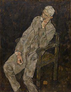 Collection Online   Egon Schiele. Portrait of Johann Harms. 1916 - Guggenheim Museum