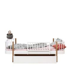 Oliver Furniture  Bettschublade Wood  Weiss 142 x 94 cm