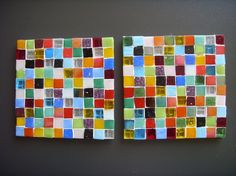 Fused Glass Mosaic Coaster ~ Coaster No No No, one or several would be great on a wall or floor!!! ;)