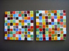 Fused Glass Mosaic Coaster