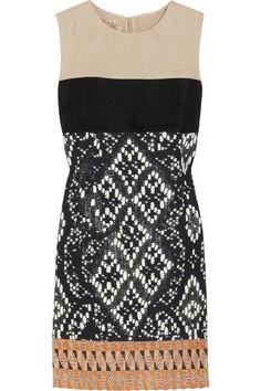 THE TREND EDIT SS2012 GO GLOBAL No. 20/25 GIAMBATTISTA VALLI Patterned tweed-paneled dress