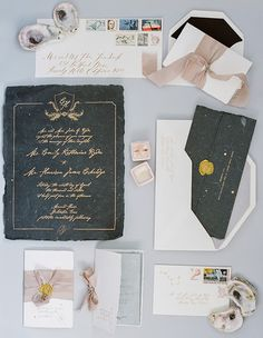 Romantic Shipwreck-Inspired Wedding Invitations by Poste Co.