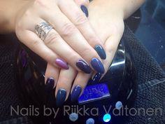 Artistic Colour Gloss manicure, gel polish, shades of blue,