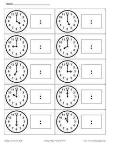 printables for first grade | Printable first grade telling times worksheets Property world