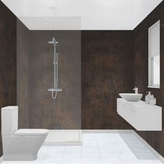 Multipanel Linda Barker Corten Elements x Unlipped Bathroom Wall Panel