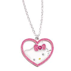 Hello Kitty® Sweetheart Necklace - Silvertone open rhinestone embellished heart necklace with Hello Kitty silhouette inside the heart. Regularly $19.99, buy Avon Jewelry online at http://eseagren.avonrepresentative.com