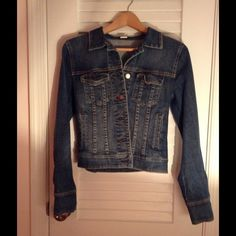 PRICE REDUCED!! JCrew dark wash Jean jacket!!! Fitted, dark wash never worn J CREW jean jacket! Tapered look makes for a very flattering fit. Size small. J. Crew Jackets & Coats Jean Jackets
