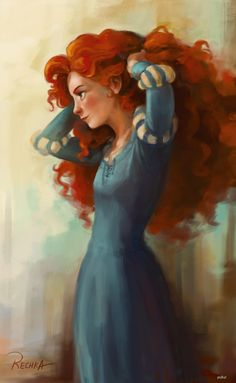 Disney fan art - Merida from Brave Disney Fan Art, Disney Pixar, Walt Disney, Disney E Dreamworks, Disney Animation, Disney Movies, Disney Characters, Brave Disney, Merida Disney