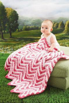 Loops & Threads ® Snuggly Wuggly™ Crochet Zigzag Blanket