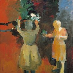 Elmer Bischoff (1916-1991)Two Women in Vermillion Light, 1959