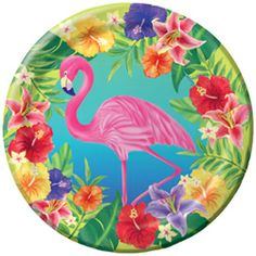 Hibiscus Flowers Paper Luncheon Plates