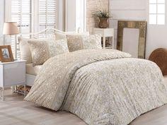 Lenjerie de pat Ranforce Katya V1 #homedecor #interiordesign #inspiration #bedsheets #beddingset #bedroomdecor #bedroomdesgin #cotton Quilt Cover Sets, Brown Beige, Bed Sheets, Duvet Covers, Comforters, King, Quilts, Blanket, Modern
