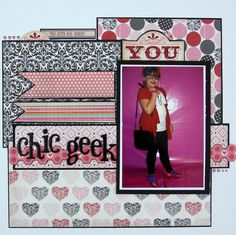Scrapbook layout by Jessica Carter