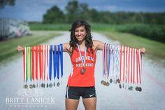 Senior Portrait / Photo / Picture Idea - Track - Girls - Medals