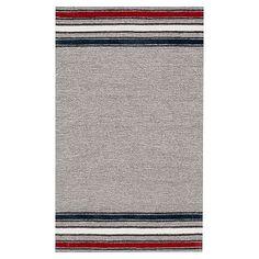 Victory Stripe Rug, Navy/ Red #pbteen