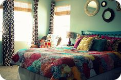 The colors. . .and ohhh those curtains!  <3