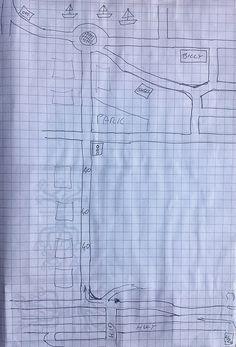 Hand drawn map - Billy's map