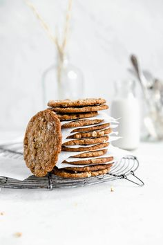 Ginger Oatmeal Molasses Cookies - Broma Bakery
