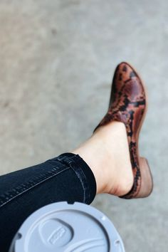 The sleek city Western-inspired silhouette of the mule makes for a subtle style statement. Simple slip-on construction with a pointed-toe and low heel, crafted from a luxurious leather. This mule flat features a cushioned footbed that deliver complete comfort with every step.