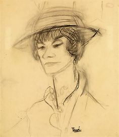 Coco Chanel, Portrait, Illustration, Images, Photos, Drawing Drawing, Bonheur, Bags, Searching