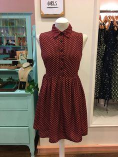 Rustic Red Polka Dot Dress – Tessies
