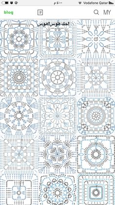 Transcendent Crochet a Solid Granny Square Ideas. Inconceivable Crochet a Solid Granny Square Ideas. Crochet Motif Patterns, Granny Square Crochet Pattern, Crochet Blocks, Crochet Mandala, Crochet Diagram, Crochet Chart, Crochet Squares, Crochet Granny, Filet Crochet