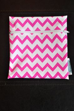 Hot Pink Chevron Reusable Waterproof by SpoonerSistersDesign, $8.00 Wet Bag, Chevron, Hot Pink, Gift Ideas, Trending Outfits, Unique Jewelry, Handmade Gifts, Bags, Etsy