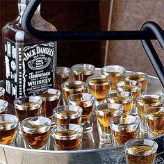 Jack Daniels wedding shots!