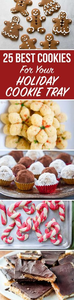 Our 25 Best Holiday Cookies for Your Dessert Table It's cookie season. Are you ready to roll, drop, shape and cut out to your heart's—and belly's—content? Here are some of our favorites for the season! Best Christmas Desserts, Best Holiday Cookies, Christmas Cooking, Holiday Treats, Holiday Recipes, Christmas Ideas, Christmas Candy, Xmas Cookies, Christmas Foods