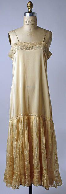 Slip Date: 1920s Culture: American or European Medium: silk