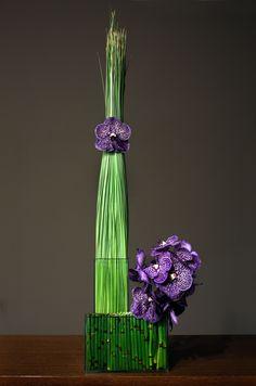 Jackson Durham #jacksondurham #PurpleRothchild #orchids #SteelGrassTower #modernfloral