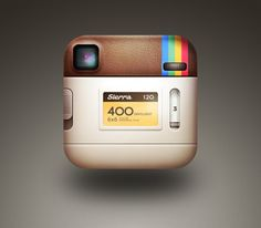 Well Of Course that's what the back of the Instagram icon looks like -- what else would it look like?