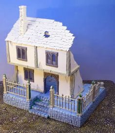 Dr. Willett's Workshop: Ruined Mordheim Town House finished