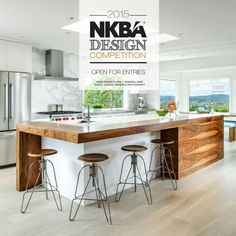 Small kitchen design planning is important since the kitchen can be the main focal point in most homes. We share collection of small kitchen design ideas Modern Kitchen Island, New Kitchen, Kitchen Dining, Kitchen Decor, Kitchen Ideas, Kitchen Time, Kitchen Pictures, Medium Kitchen, Awesome Kitchen