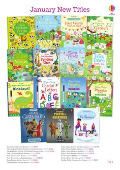 USBORNE Books in English New Titles 2016 POSTER