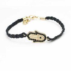 2016 free shipping fatima hamsa bracelet handmade braided sideway hand charm bracelets for women girl best friends jewelry #Affiliate