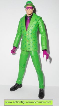 mattel toys action figures for sale to buy DC UNIVERSE Classics 2008 walmart exclusive, RIDDLER - wave 5 Metallo series condition: excellent. nice paint, nice joints.nothing broken, damaged, or missin
