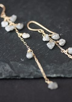 Rough Diamond Cascade Earrings from Alexis Russell
