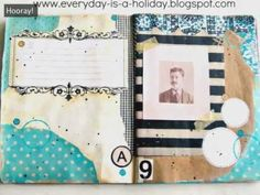 Art Journaling with Jenny & Aaron  of Everyday is a Holiday (class 1) VIDEO with Full instructions on blog #101 #tutorial #basics #beginner #ephemera #layout #mixed #media #journal