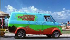 This Mystery Machine is a 1963 Ford Econoline Custom Van