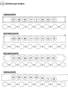 atividades com numeros crescentes e decrescentes - Pesquisa Google Math Numbers, Letters And Numbers, Math Games, Math Activities, Counting To 100, Primary School, Homework, Worksheets, Study