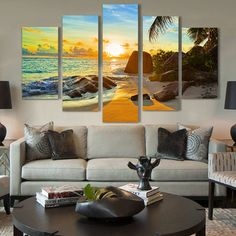 Ocean Sunset http://walldecordeals.com/product/free-shipping-ocean-sunset-oil-painting-printed-painting-oil-painting-on-canvas-oil-painting-for-home-decor-wall-decor/