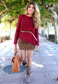 fall outfit #winter_outfit...not liking the sweater color for me...but love the look.