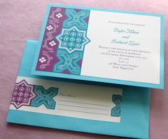 Moroccan Party Invitation - Persian Tile - Shower Birthday Anniversary Party