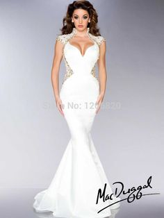 Find More Evening Dresses Information about 2014 new White Gold Beaded Mermaid Satin Formal Pageant Gowns with High Collar and Sexy Open Back Evening Dresses,High Quality Evening Dresses from Sao Tome Garments Co., Ltd. on Aliexpress.com
