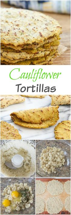 A great low-carb gluten free and paleo friendly substitute! A great low-carb gluten free and paleo friendly substitute! Low Carb Recipes, Vegetarian Recipes, Cooking Recipes, Healthy Recipes, Paleo Cauliflower Recipes, Spinach Recipes, Bread Recipes, Cauliflower Tortillas, Desserts