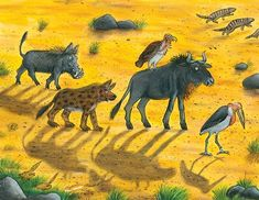 Illustration from The Ugly Five by Julia Donaldson & Axel Scheffler. Axel Scheffler, Michael Morpurgo, The Gruffalo, Children's Book Illustration, Book Illustrations, Little Island, Activity Sheets, The Guardian, New Pictures