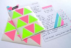 Omiyage Blogs: Send Pretty Mail #16 - Neon + Glitter