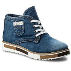 6566a60340068 Botki z jeansu na platformie, sznurowane, idealne na co dzień. / Boots from