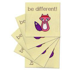 Fertige Namensbänder, Textiletiketten, handmade Stofflabels für die Handarbeit.  http://www.namensbaender.de/shop/beschriftete-webetiketten/48